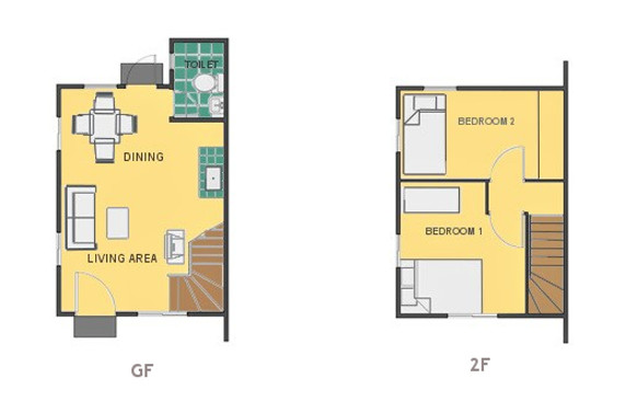 Mika Floor Plan House and Lot in Bataan
