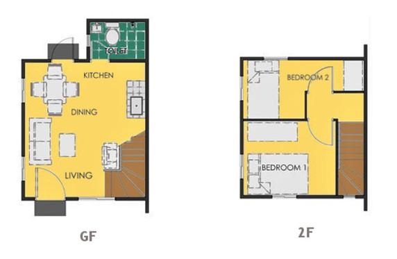 Ravena Floor Plan House and Lot in Bataan