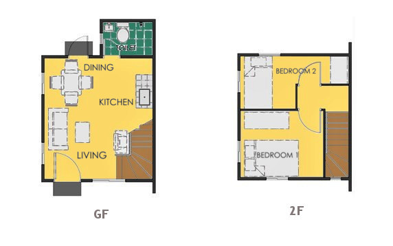 Reva Floor Plan House and Lot in Bataan