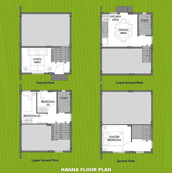 Hanna Floor Plan House and Lot in Bataan