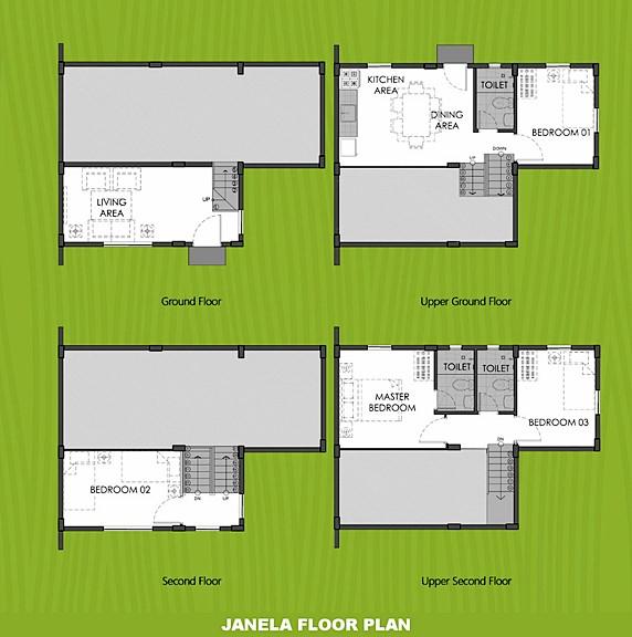 Janela Floor Plan House and Lot in Bataan