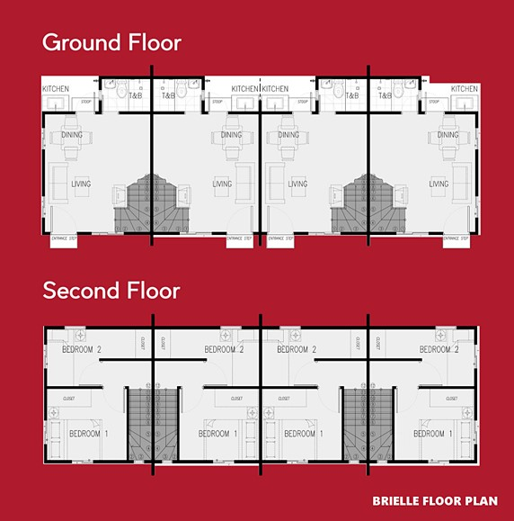 Brielle Floor Plan House and Lot in Bataan